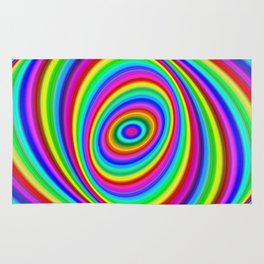 Rainbow Hypnosis Rug