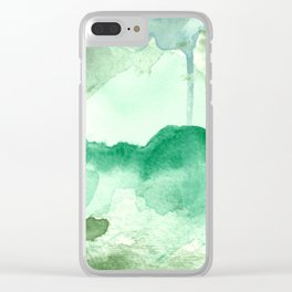 Meadow Pool Abstract Clear iPhone Case
