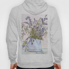 Wildflowers Botanical Flowers in Pitcher Hoody