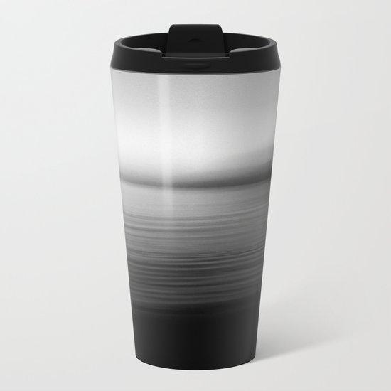 Flow (B&W) Metal Travel Mug