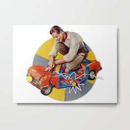 Mr Fixit | Collage Metal Print