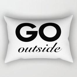 go outside Rectangular Pillow