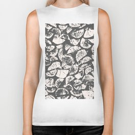 abstract pattern, Firewood texture, tree cut, gray and beige grunge wood background Biker Tank