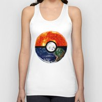 pokeball Tank Tops featuring Galaxy Pokeball by Advocate Designs