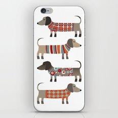 Sausage Dogs in Sweaters iPhone & iPod Skin