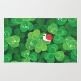 Happy lucky snail Rug
