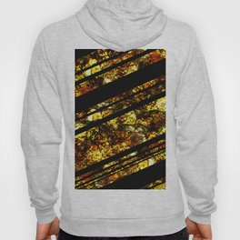 Gold Bars - Abstract, black and gold metallic, textured diagonal stripes pattern Hoody