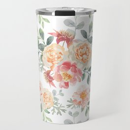 Pink roses bouquets Travel Mug