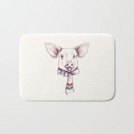 Pig and scarf Bath Mat