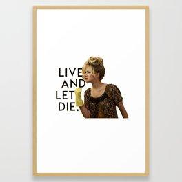 Jennifer Lawrence American Hustle Framed Art Print