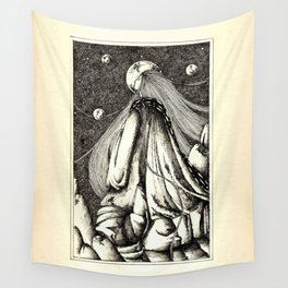 Lady of the mountains Wall Tapestry