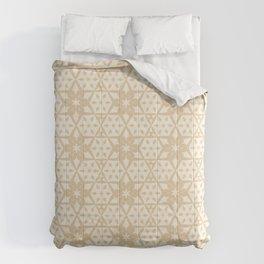 Stars and Hexagons Pattern - Sahara Sand Comforters