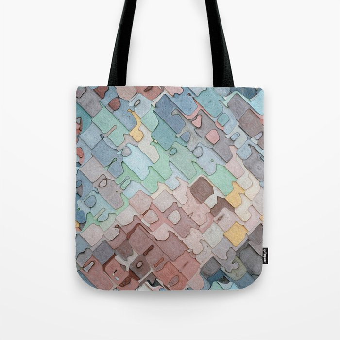 Colorful Layers Pattern Tote Bag