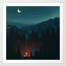 Lets Go Camping  Art Print