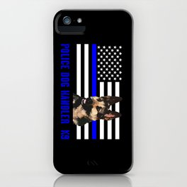 Police Dog Handler iPhone Case