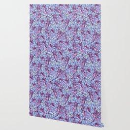 Blue Purple Grape Pattern Wallpaper