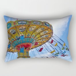 Flying Swings  Carnival Photography Rectangular Pillow