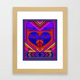 Art Deco Valentine Framed Art Print