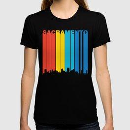 Retro 1970's Style Sacramento Skyline T-shirt