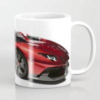 lamborghini Mugs featuring Lamborghini Veneno by rosita