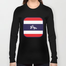 Thailand Flag, Roosters Sparring Long Sleeve T-shirt