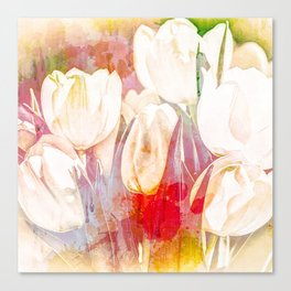 Tulip Fever Abstract Art Canvas Print