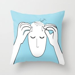 ASL Teach Throw Pillow