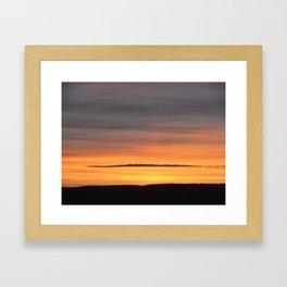 Burnished Sky Framed Art Print