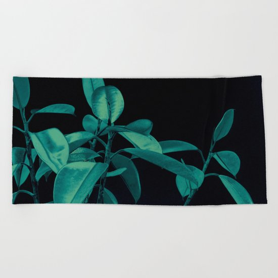 Rubber plant Beach Towel
