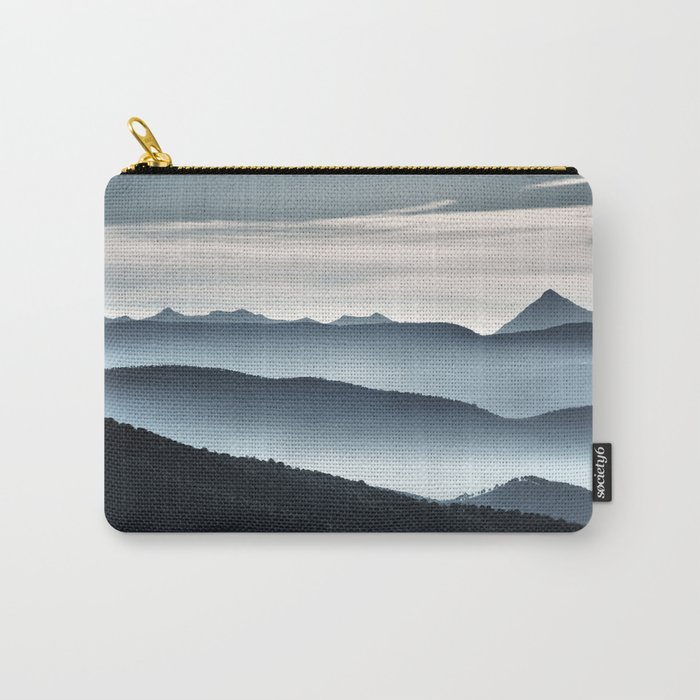"""""""Misty mountains"""". Blue hour Carry-All Pouch"""
