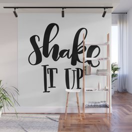 Shake It Up: white Wall Mural