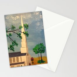 The Steeple, McClain Ave Baptist Church Steeple, Memphis, TN Stationery Cards
