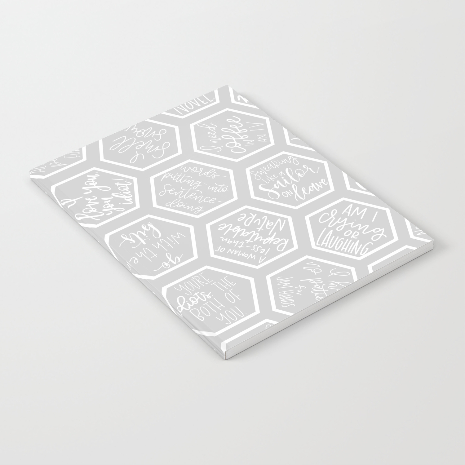 Gilmore Girls Inspired Quotes Geometric Print Notebook