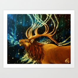 Elk Spirit Art Print