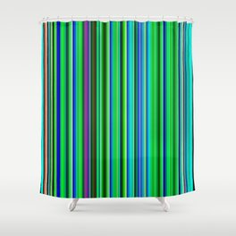 Colorful Barcode Shower Curtain