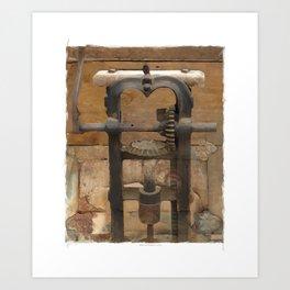 antique press Art Print