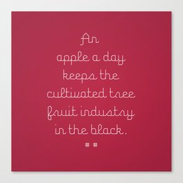 Proverbs: An Apple a Day Canvas Print