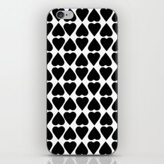Diamond Hearts Repeat Black iPhone & iPod Skin