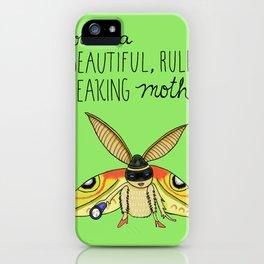 Leslie Knope Compliments: Rule-Breaking Moth iPhone Case