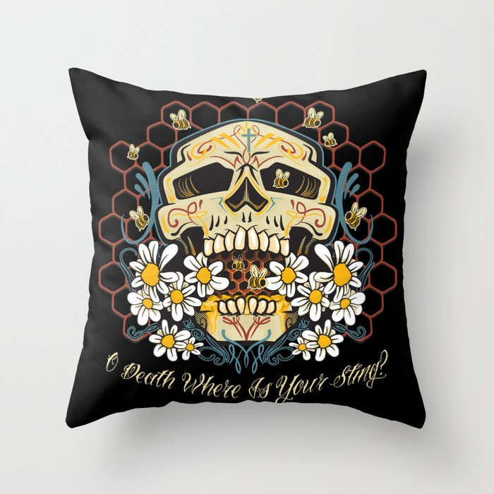 O death where is your sting? Throw Pillow