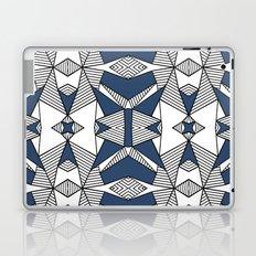 Triangle Tribal #2 Navy Laptop & iPad Skin