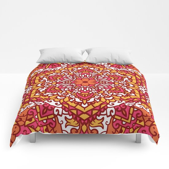 Vintage Mandala Flower Decoration 2 Comforters