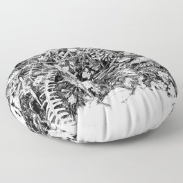 Inky Undergrowth Floor Pillow