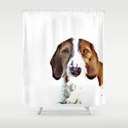 """Birch"" ~ Dachshund, Weiner Dog, Doxie, everywhere!  Shower Curtain"