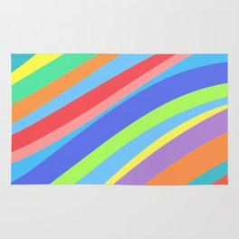 Rainbow Lines Variant 2 Rug