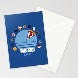 Nerd life Stationery Cards