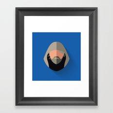 Luke Flat Design Episode VII Framed Art Print