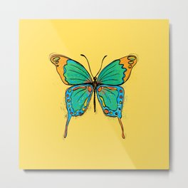 Simple Colorful Butterfly Metal Print
