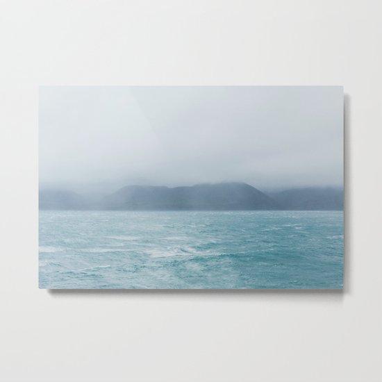 New Zealand Ocean Metal Print