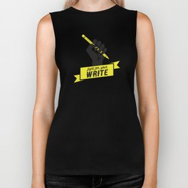 """Fight For Your """"Write"""" Biker Tank"""